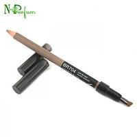 Карандаш контурный для бровей с кисточкой Shiseido Natural Eyebrow Pencil BR 602 коричневый 1.1 гр.