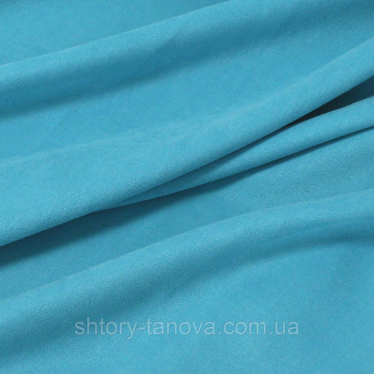 Ткань для штор нубук небесно-голубой