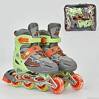 Раздвижные детские ролики Best Rollers 1360L,размер 38-41,колёса PVC