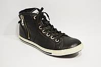 Ботинки черные кожаные Wojas 0091