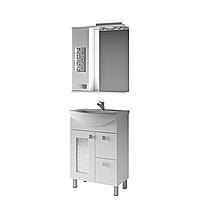 Мини-комплект мебели для ванной комнаты Ирис 3-60-2-60 ВанЛанд