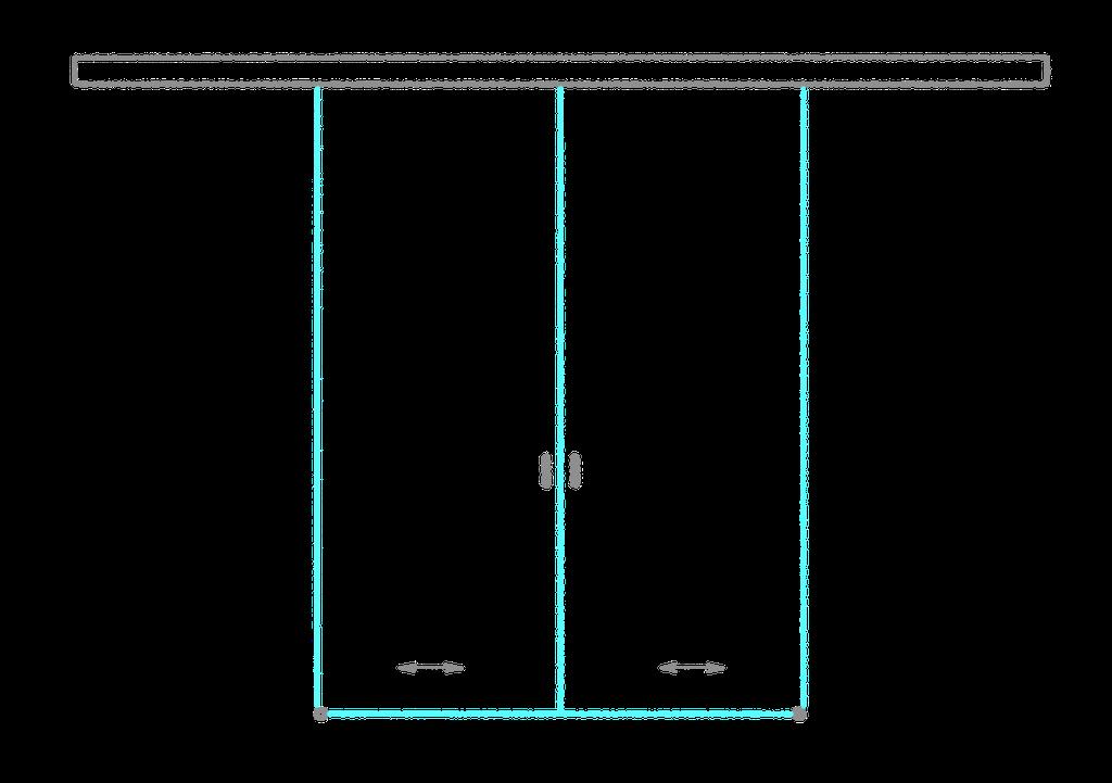 SSGA-2 Раздвижная дверь из стекла - Стеклянная раздвижная перегородка