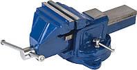 Тиски слеcарные поворотные синие 125 мм Miol 36-300