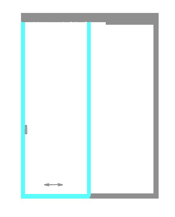 SSGA-3 Раздвижная дверь из стекла - Стеклянная раздвижная перегородка
