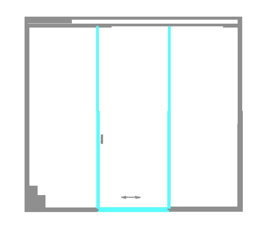 SSGA-5 Раздвижная дверь из стекла - Стеклянная раздвижная перегородка