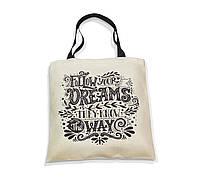 """Эко-сумка с черной ручкой """"Follow your dreams"""""""
