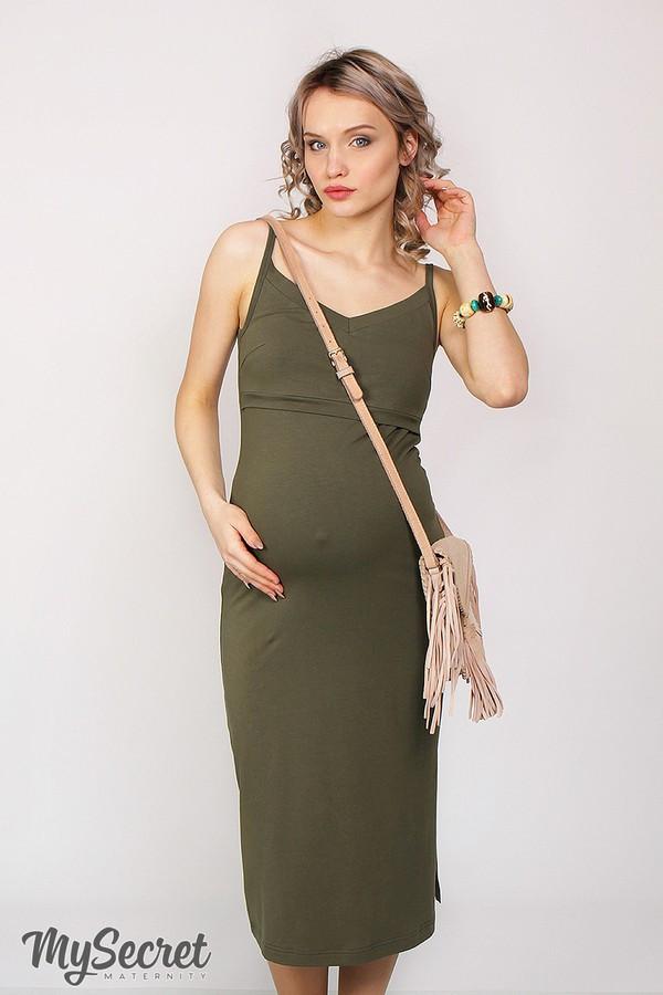 Сарафан для беременных и кормящих Nita ЮЛА МАМА (зелёный, размер S)