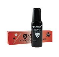 Salon professional клей для накладных ресниц водостойкий черный 10 г