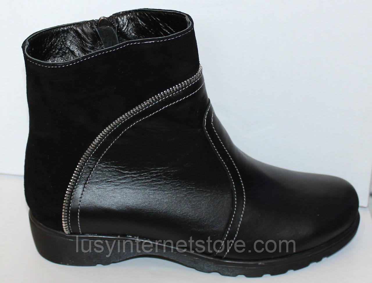 Ботинки большого размера весенние кожаные от производителя модель ВБ1М