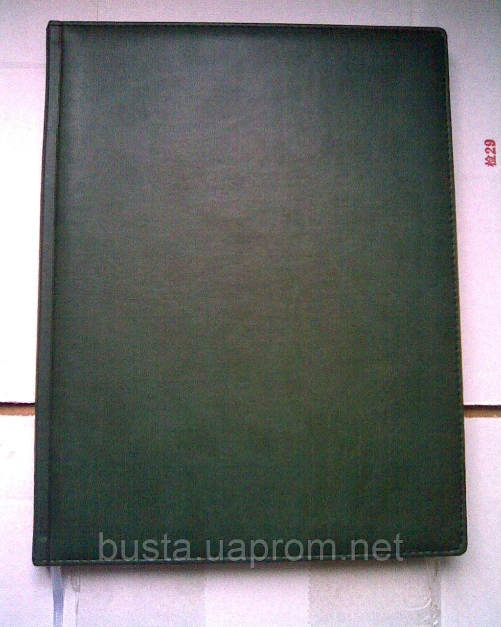 Ежедневник недатированный А4 кожзам SARIF т.зеленый