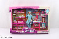 "Кукла типа ""Барби""Доктор"" с мебел,ребенк,ванн,весы,шарнир, в кор.52*7*35см /24-2/(JX100-28)"