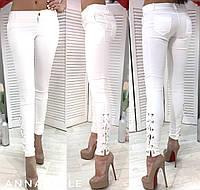 Джинсы женские зауженные Материал: стрейч-джинс Цвета: черный, бордо, джинс, бутылка, белый аанд№1135