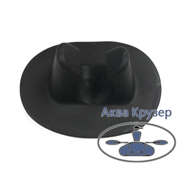 Веслодержатель - затиск для надувних човнів ПВХ, колір чорний