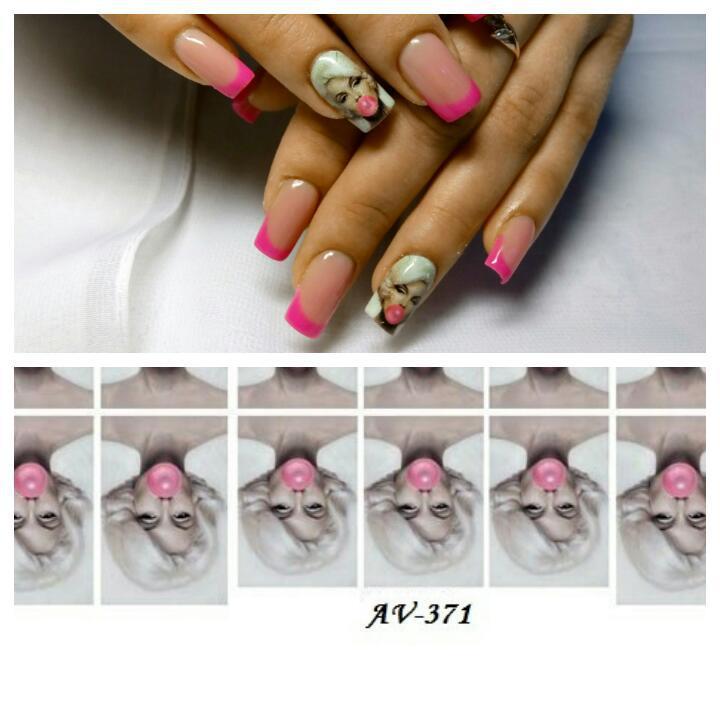 Слайдер дизайн для нігтів ( водні наклейки на нігті)