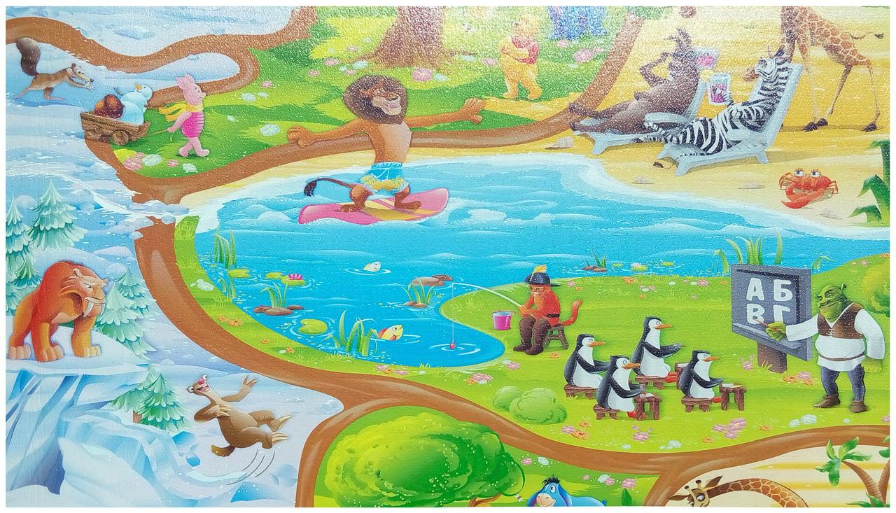 Развивающий детский игровой коврик «Happy Kinder» M 670х1200x8 мм