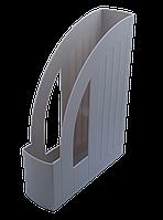 Лоток вертикальный пластиковый серый