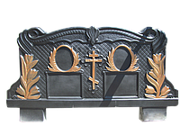 Памятник черный бетонный, комплект Двойной, Хмельницкая обл