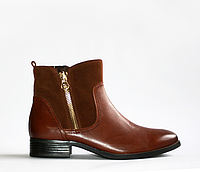 Ботинки демисезонные кожа (замша) Caprice