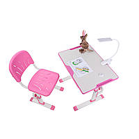 Растущая детская парта со стульчиком Cubby LUPIN Pink+лампа Cubby Ma3, фото 1
