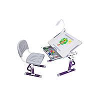 Растущая парта для дома Cubby KARO Purple+лампа Cubby Ma3