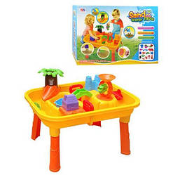 Песочница-столик М0833 городок с мельницей