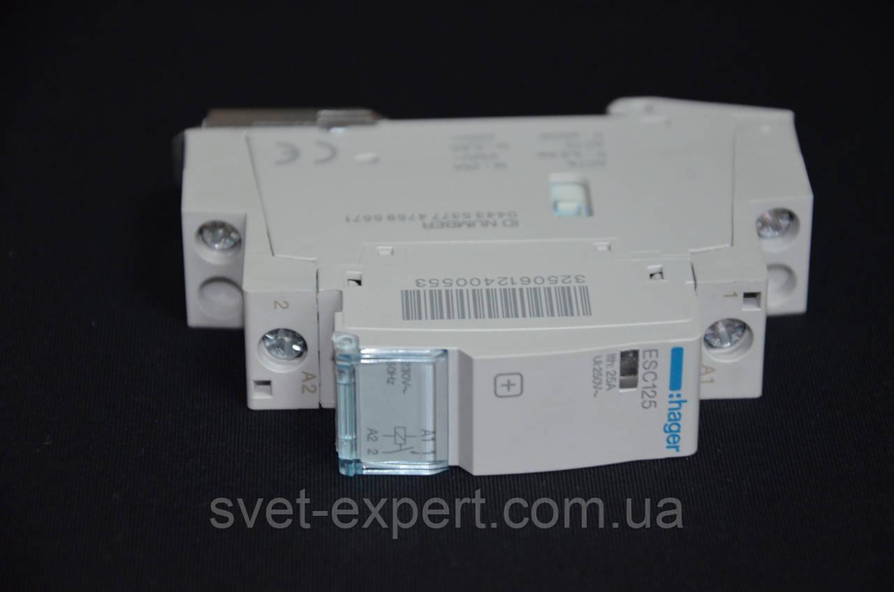 ESC125 Контактор 25A, 1НВ, 230В Хагер