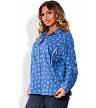 Сорочка синя розміри від XL 3101