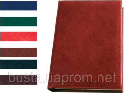 Щоденник недатований А4 кожзам SARIF червоно-коричневий, фото 2