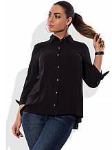 Сорочка чорна з штапелю розміри від XL 3099