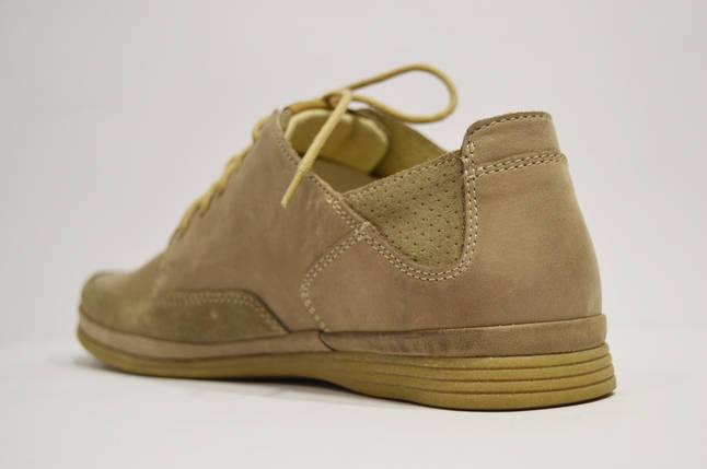 Повседневные мужские бежевые туфли Nik 0405, фото 2