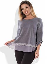 Блуза з ангори розміри від XL 3094
