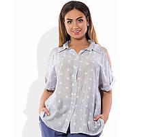 Сорочка з відкритими плечима розміри від XL 3091