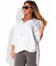 Сорочка-фрак біла розміри від XL 3089