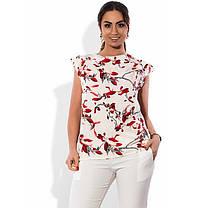 Блузка на літо розміри від XL 3081