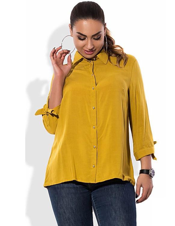 Рубашка горчичного цвета размеры от XL 3060