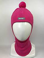 Демисезонная шапка-шлем для девочки 1512 флокс