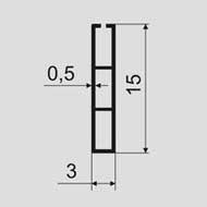 Планки для календарей, пластиковый профиль №15, клеевое крепление длина 600 мм., 100 шт/уп.
