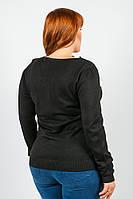 Кардиган женский темный на змейке 802K005-2 (Черный)