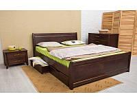 Ліжко Сіті з фільонкою і ящиками 200*140 бук Олімп, фото 1