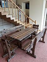 Набор №1 ГЕНУЯ  2,0м брашированый 8 стульев, фото 1