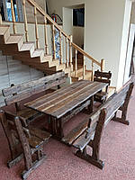 Набор №1 ГЕНУЯ  2,0м брашированый 8 стульев