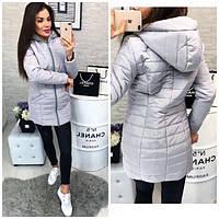Женское короткое пальто плащевка утеплитель силикон