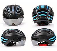 Ультралёгкий шлем для велоспорта Cairbull JT-TT Black-Blue 57-62см