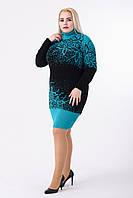 Платье женское Майя (чёрный/бирюза)
