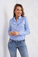 Молодежная блуза с рубашечным воротником