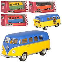 Машинка KT5060WM  металл,инер-я,микроавтобус,13см,1:32,рез.колес,4цвета,в кор-ке,16-7-8см