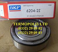 Подшипник 6204 2RS, 180204, 6204 ZZ, 80204 производства CX, QL, NT, FLT, ZKL