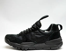 Кроссовки Nike Crafe Mars Yard Full Black. Живое фото. Топ реплика