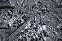 Ткань клетка костюмная вышивка №5 клетка
