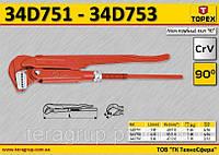 """Ключ трубный тип """"90º"""", L-420мм., Ra-55/1.0мм., m-1.3kg, CrV.,  TOPEX  34D752"""